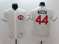 Wholesale 44 Anthony Rizzo New Arrivals MLB Chicago Cubs Jerseys Cream Flexbase Collection Baseball Jerseys Stitched Free Drop Shipping