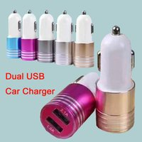 Wholesale USB Car Charger Mini Portable Charger Adapter For iPhone iPad Samsung S7 Huawei P9 without Package DHL Free CAB145