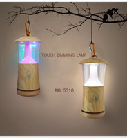 Wholesale Wood LED Table Lamp Touch Dimmable Night Light Portable USB Touch Dimmung Lamp Magic Colorful Stage Lights Outdoor Light