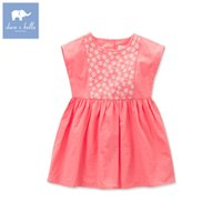 bella girls clothing - DAVE BELLA Cotton summer style kid toddler baby child girl princess summer dress sleeveless A Line embroidery children baby girl clothes