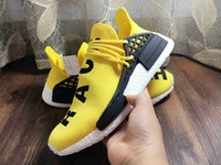 Wholesale Human Race Pharrell Williams X NMD Boost Trainning Shoes Nmd Human Race PW ZX333 standard NMDs White Black Red Green Blue Grey Yellow