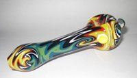 Wholesale Glass Smoking Pipe Handcrafted Spoon Pipe Colored Bbeautiful Pipe Manufacture Hand blown Inches Fast shipping