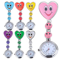 Wholesale Fashion Colorful Silicone Nurse Smile watch Pocket Watches Doctor Fob Quartz Watch Kids Gift Watches colors for choice