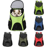 Wholesale Freeshipping Portable Pet Dog Cat Puppy Travel Double Shoulder Backpacks Sport Travel Outdoor Pet Carrier Bag