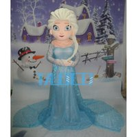 Wholesale High quality Elsa Princess Mascot Costume Party Fancy Dress