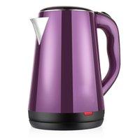 Wholesale electric kettle L stainless steel cool touch exterior purple color tea pot