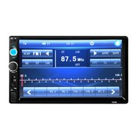 Cheap 2016 New 7'' inch HD Bluetooth LCD Touch Screen Car Stereo Radio Player 2 DIN FM MP5 USB AUX 1080P Movie + Remote Controller