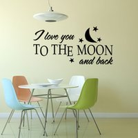 Wholesale DIY I Love You English Letter Quote Wall Stickers PVC Home Bedroom Waterperoof Removable Wall Decor Wallpaper X10 quot