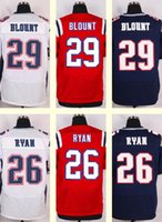 Wholesale 2016 New Men s Logan Ryan LeGarrette Blount Red White Blue Top Quality jerseys Drop Shipping