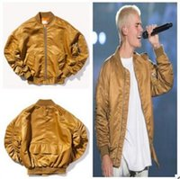 Wholesale 2016 High Fashion fear of god golden bomber jackets autumn true brand hip hop clothing blouses men poloshirt plus size style