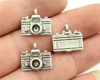 Charms antique camera lot - WYSIWYG mm antique silver plated camera charms