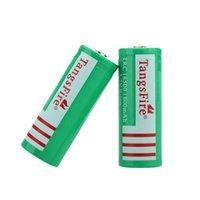 Wholesale 2pcs set TangsFire Rechargeable Li ion Batteries V mAh Battery Environmentally Friendly Design