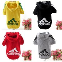 Wholesale The new dog pet clothes warm Sweater with hat Winter Hoodie Coat Jacket dog clothes supplies
