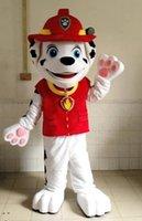 De haute qualité Nouvelle arrivée AM0621 Cartoon Adult Patrol Character Marshall Dog Mascot Costume, Robe de soirée