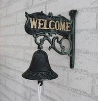 antique cast iron dinner bell - Antique Cast Iron WELCOME Dinner Bell Wall Mounted Home Store Wall Decor Bell Garden Yard Door Metal Crafts Gift