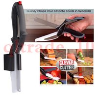 Wholesale Clever Cutter in Food Chopper Replace your Kitchen Knives and Cutting Boards Hot sell HHA1023