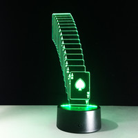 aa battery brands - 2016 Brand New Poker D Illusion Night Lamp D Optical Lamp AA Battery DC V Dropshipping