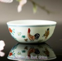 art periods - Real China Porcelian Ceramic Tea Cup High Imitation Ming Dynasty ChengHua Period Clashing Colors Cock Vat Ceramic Cup