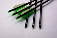 Wholesale aluminum crossbow Bolt quot completed moon nock insert screw tip vanes hunting archery bow outdoor
