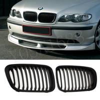 Wholesale MATTE BLACK GRILLE GRILL for BMW E46 DOOR i i i i i