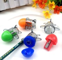 aircraft schools - Pencil Sharpeners Office School Supplies Plastic Supplies stationery Cartoon for student Kid Gift Toy candy Aircraft shape color