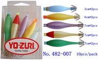 Wholesale 10pcs pack squid jigs hooks lure bait blue suttee cm cm cm mm japan YO ZURI fishing tackle wood shrimp