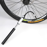 ball pump gauge - New Bike Pump Mini Portable High Pressure Air Pump Double Action Hand Pump Bike Tire Ball Inflator with Pressure Gauge