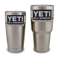 best green insulation - Best Quality YETI oz Rambler Tumbler Bilayer Stainless Steel Insulation Cup OZ Cups Cars Beer Mug Large Capacity Mug Tumblerful