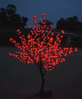bending decor - Christmas new year decor m Ft Height red LED Cherry Blossom Tree light with Bent Tree Trunk Wedding Garden Holiday Light Decor LEDs
