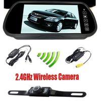 "Cheap 7"" inch TFT LCD Rear View Mirror Monitor & 2.4GHz Wireless Reverse Car Rear View Backup Camera Kit"