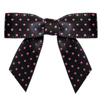Wholesale 600pcs Pre black colour purple satin Ribbon Gift Package Bow with Twist Tie DHL