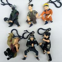 Wholesale 2016 New Arrive Set cm Mixed Design Naruto PVC Figure Kakashi Sasuke Minifigures Pendant Vinyl Toys For Kids Gift F