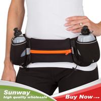Wholesale 2016 fashion Sport Waist Bag with Dual Bottle Holder Running Bum Bag Waist bag for Men Women Fanny Pack Belt Bag Cycling Camping