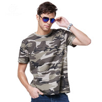 Wholesale Summer Outdoors Military Hunting Camouflage quick drying T Shirt Men Breathable Sport Camo Outdoor Camp hiking climbing Tees