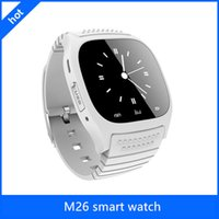 Smart Bluetooth Watch Smartwatch M26 avec affichage LED Barometer Alitmètre Music Player podomètre pour Android IOS Mobile Phone