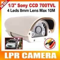 Wholesale 8 Inch TVL mm Fixed Lens Analog Parking License Plate Capture LPR Camera With Array White Light Leds Waterproof IP66 OSD Menu