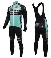 bianchi red - 2016 BIANCHI winter thermal fleece cycling jersey and cycling bib Pants Kits long sleeve winter cycling clothing Ropa Ciclismo