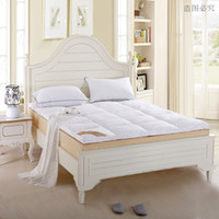 Wholesale 180 cm white color kg Duck Down soft quilted Mattress Topper with Straps home furniture Star Hotel fast Shipping