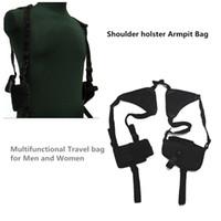 Wholesale Adjustable Outdoor Anti theft Hidden Underarm Tactical Harness Phone Gun Nylon Shoulder Holster Armpit Bag for Gun