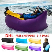 Wholesale Beach Lounge lazy bag inflatable sleeping bag Fast Inflatable camping Lamzac hangout Air Sofa Sleep Camping Bed KAISR
