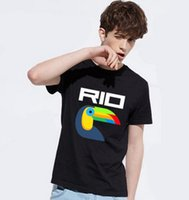 big bird shirts - Men T shirt Rio Olympics Lucky Bird Tops Jogging T Shirts Fashion Big Yards Short sleeved Sports Tee Solid Color Wild Bottoming Shirt