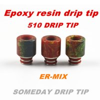 Wholesale Someday factory epoxy resin new stainless steel stone drip tip jade jewelry drip tips Turquoise drip tip drip tips