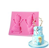 Wholesale Princess Elsa Anna D Silicone Cake Mold Chocolate Fondant Cake Decor Tools Gum Paste Queen Soap Mould cm E154