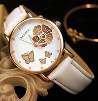 Dress analog stereo - Lady Watch Fashion Watch Watches Butterfly Stereo Unique Design Waterproof Crystal Genuine Leather Luxury High Quality Cheap