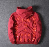 Wholesale 2016 Kanye West High quality fleece Hoodies I FEEL LIKE PABLO Hooded Sweatshirts Men Hip Hop Lover Streetwear red m XXL Free Delivery