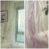 balcony screen - Charming Willow Voile Curtain Sheer Panel Drapes Valance Window Twigs for Room Door Balcony Screening Decoration
