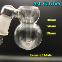 Wholesale 6 Styles Glass Ash Catcher Bowls With Bubbler And Calabash Female Male mm mm mm Joint Glass Perc Ashcatcher Bowls For Oil Rigs