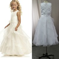 Cheap real picture 2016 jewel first communion flower girl dress tiered skirts pageant dresses for teens floor length children wears sleeveless