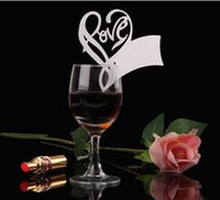 Wholesale 100 Laser Cutting Glass Cards Wedding Decoration Pretty Love shape Wedding table Seat Name Place Wedding Party Decoration