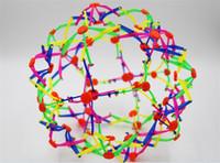 Wholesale 50pcs New expanding sphere mini ball kids toy rainbow Colorful flower magic ball children s toys D916